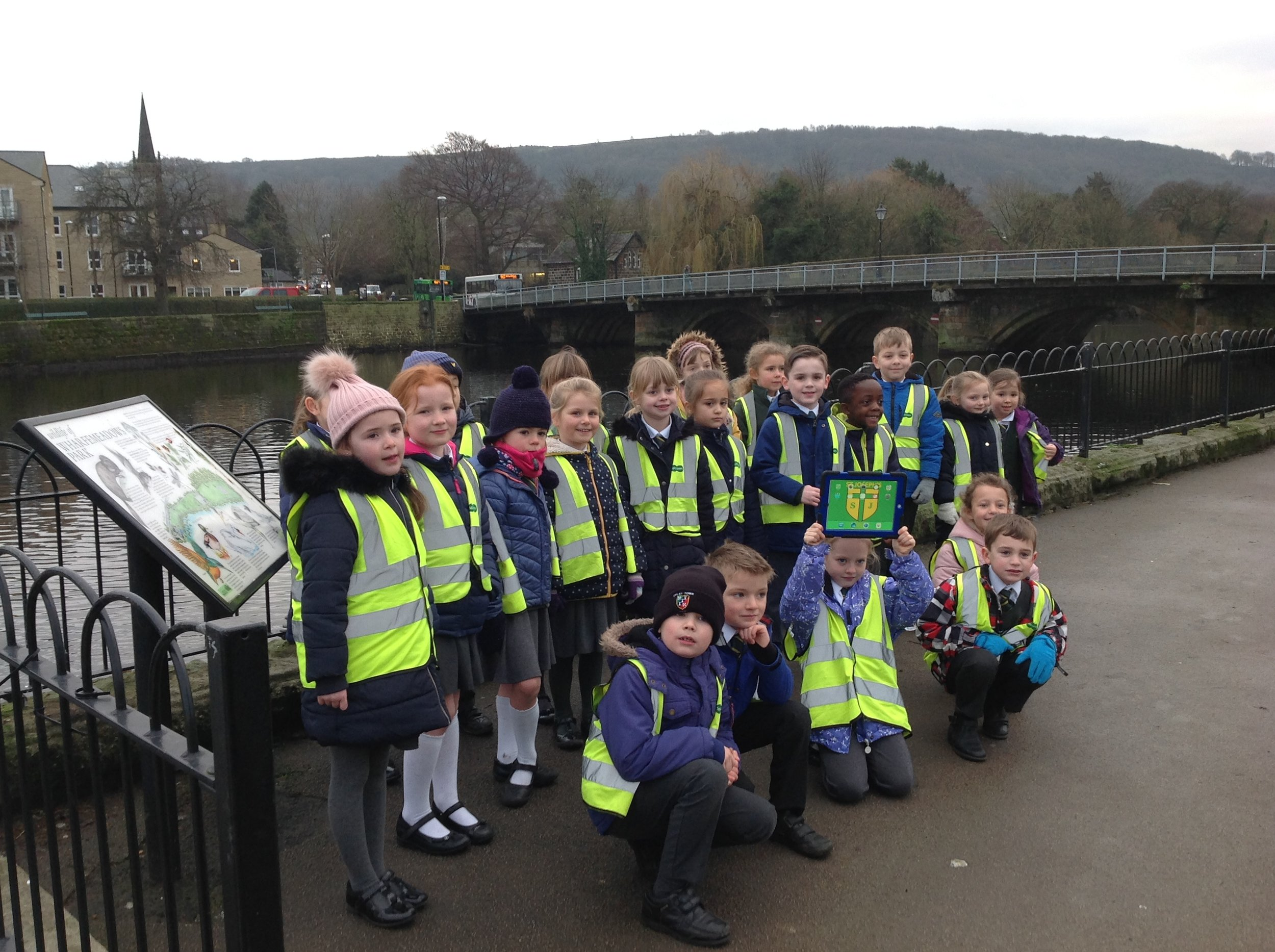 Down by Otley Bridge finding out about the wildlife