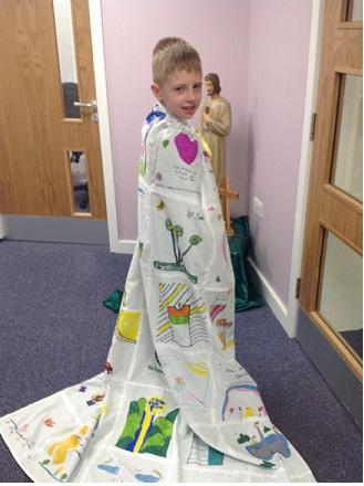 Archie enjoyed modelling our St Brigid Cloak