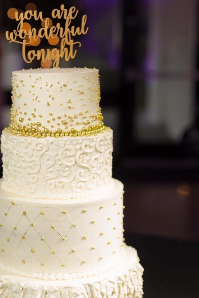 Copy of white gold buttercream wedding cake