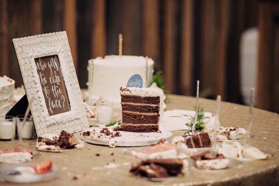 Copy of cut wedding cake