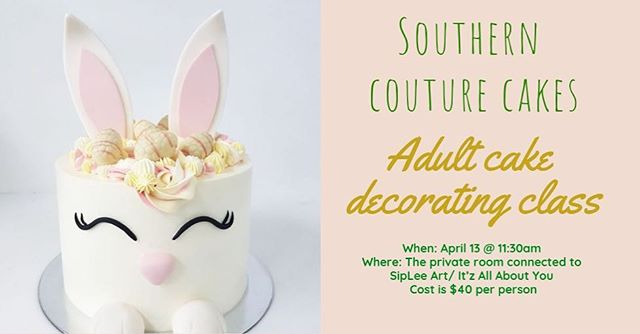 Ok y'all, we only have FOUR spots left in our adult cake decorating class (young adult/teens welcome!). If you want to grab one of the very last spots we have left for classes this day send me your email and I will send you a link to an invoice 💕