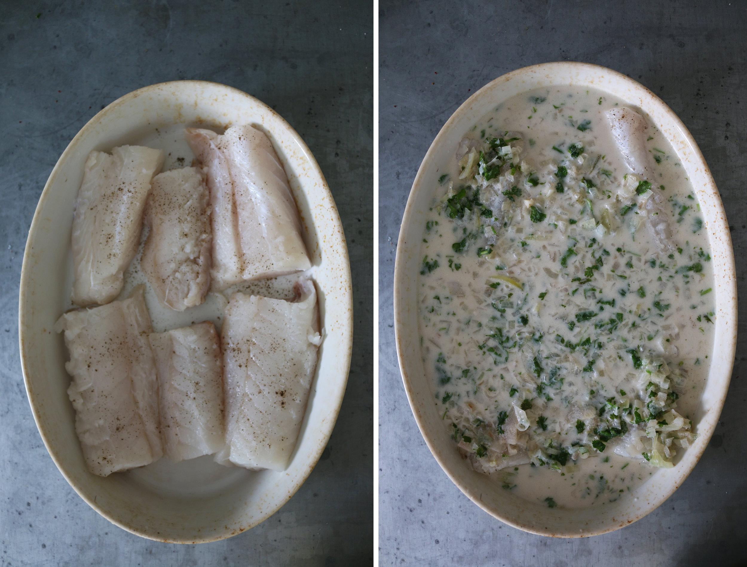 almond-milk-poached-cod-fish-gourmandesante