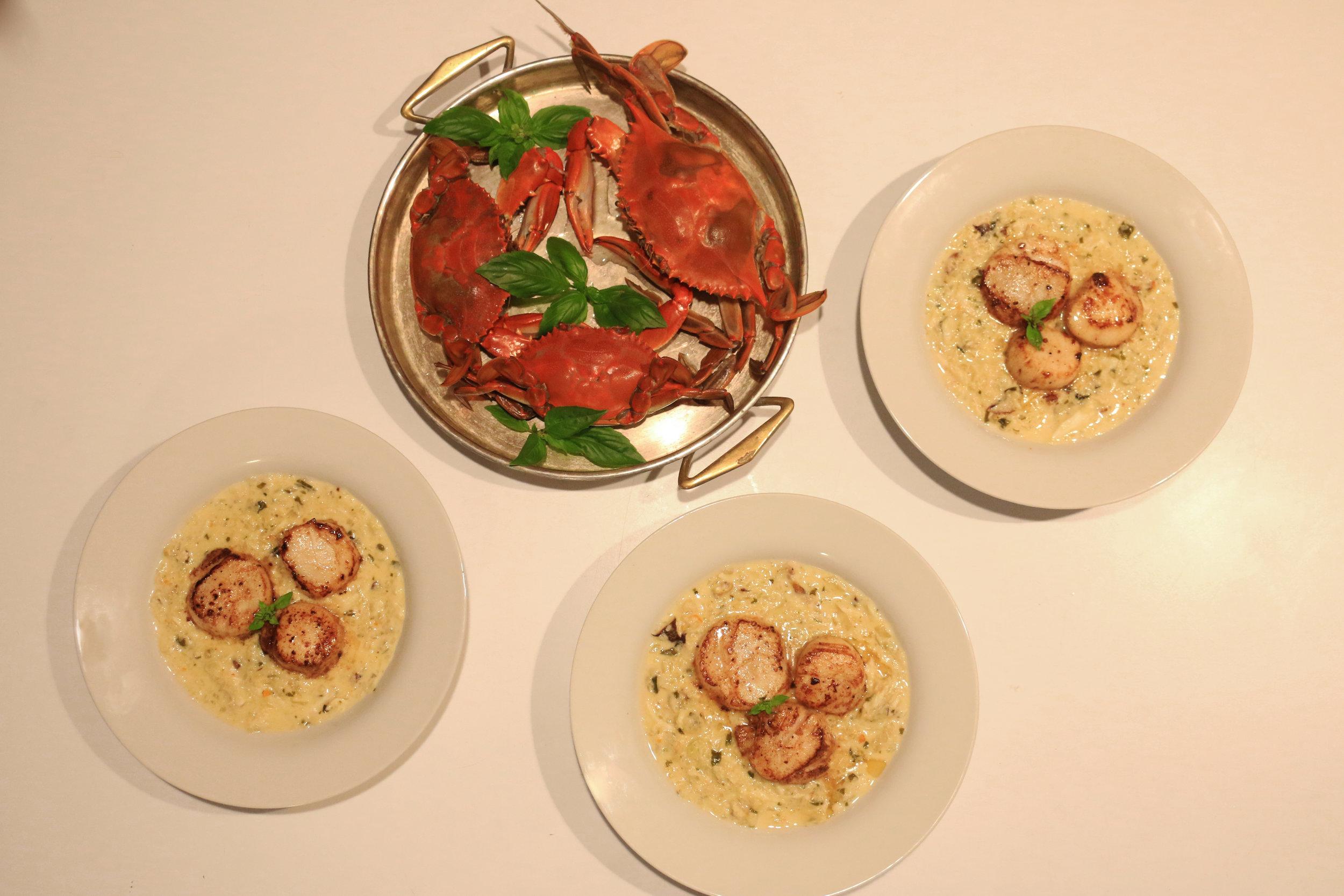 Seared Scallops-coconu-crab-gourmandesante