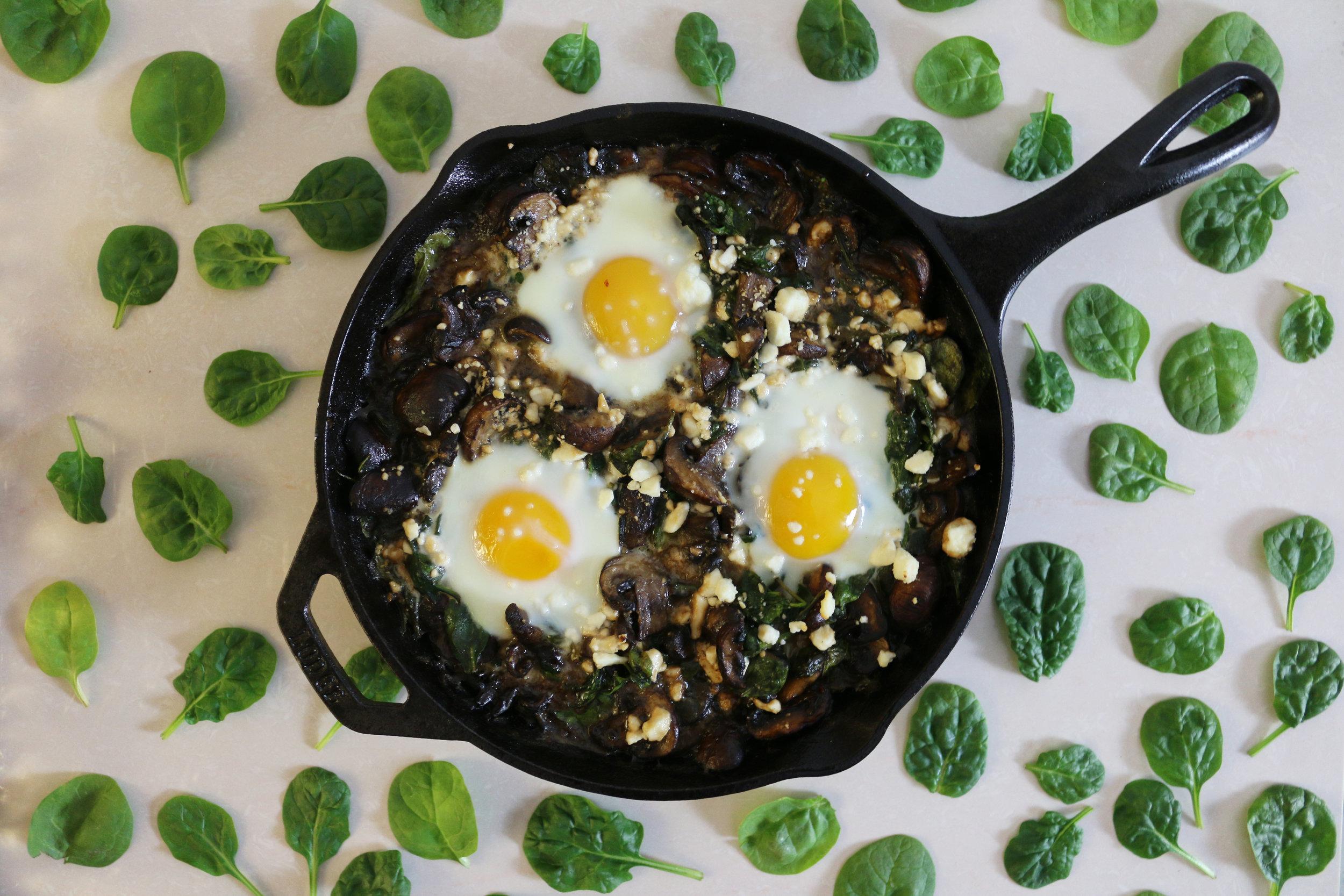Spinach-mushroom-egg-bake-culinarywitch