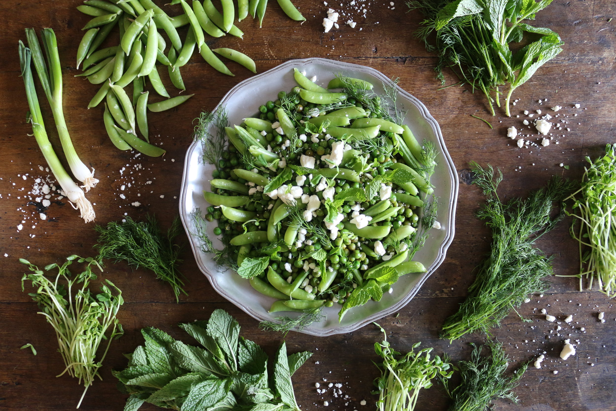 Sugar Snap Pea Herb Salad-CulinaryWitch