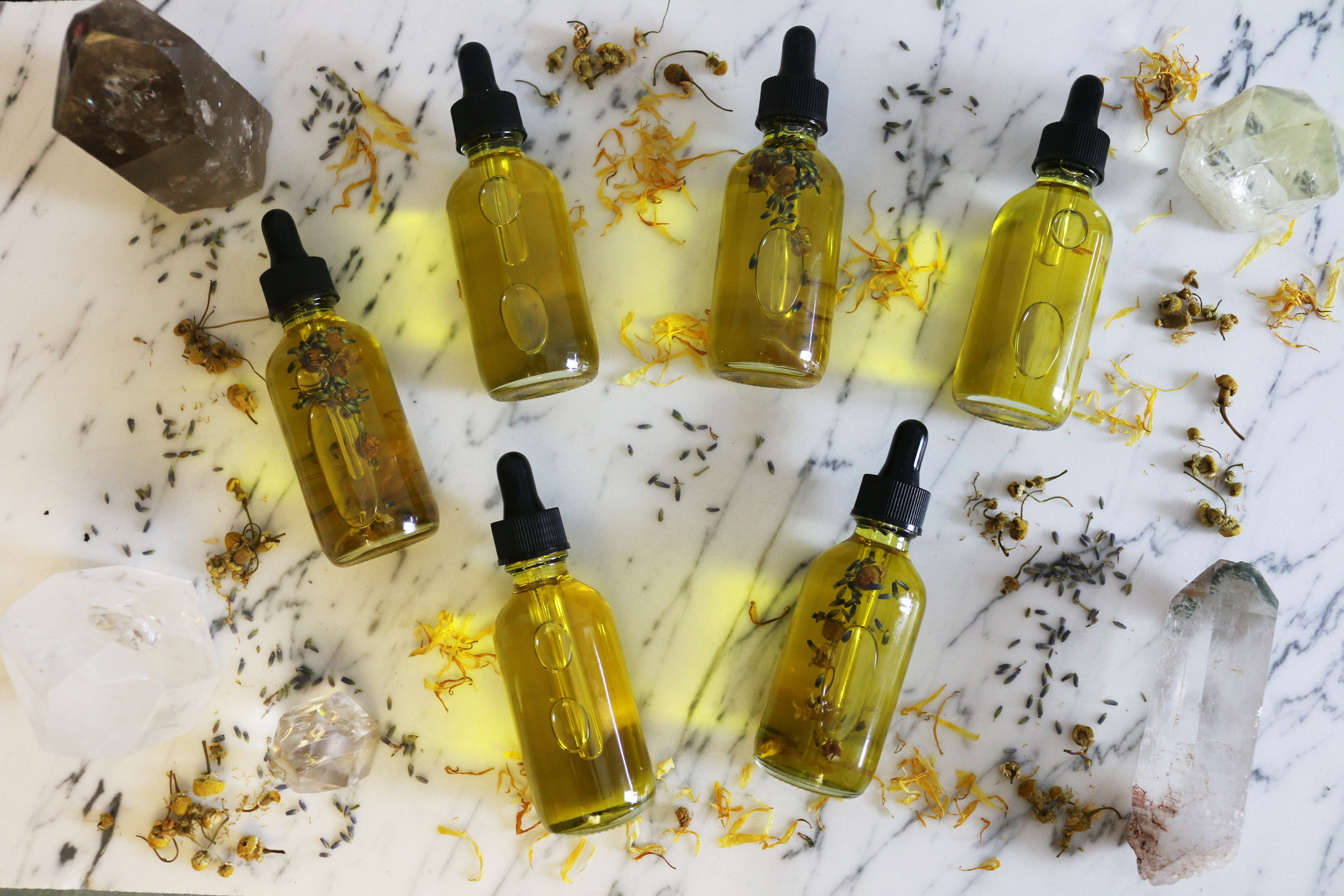 Infusing flower oils-CulinaryWitch