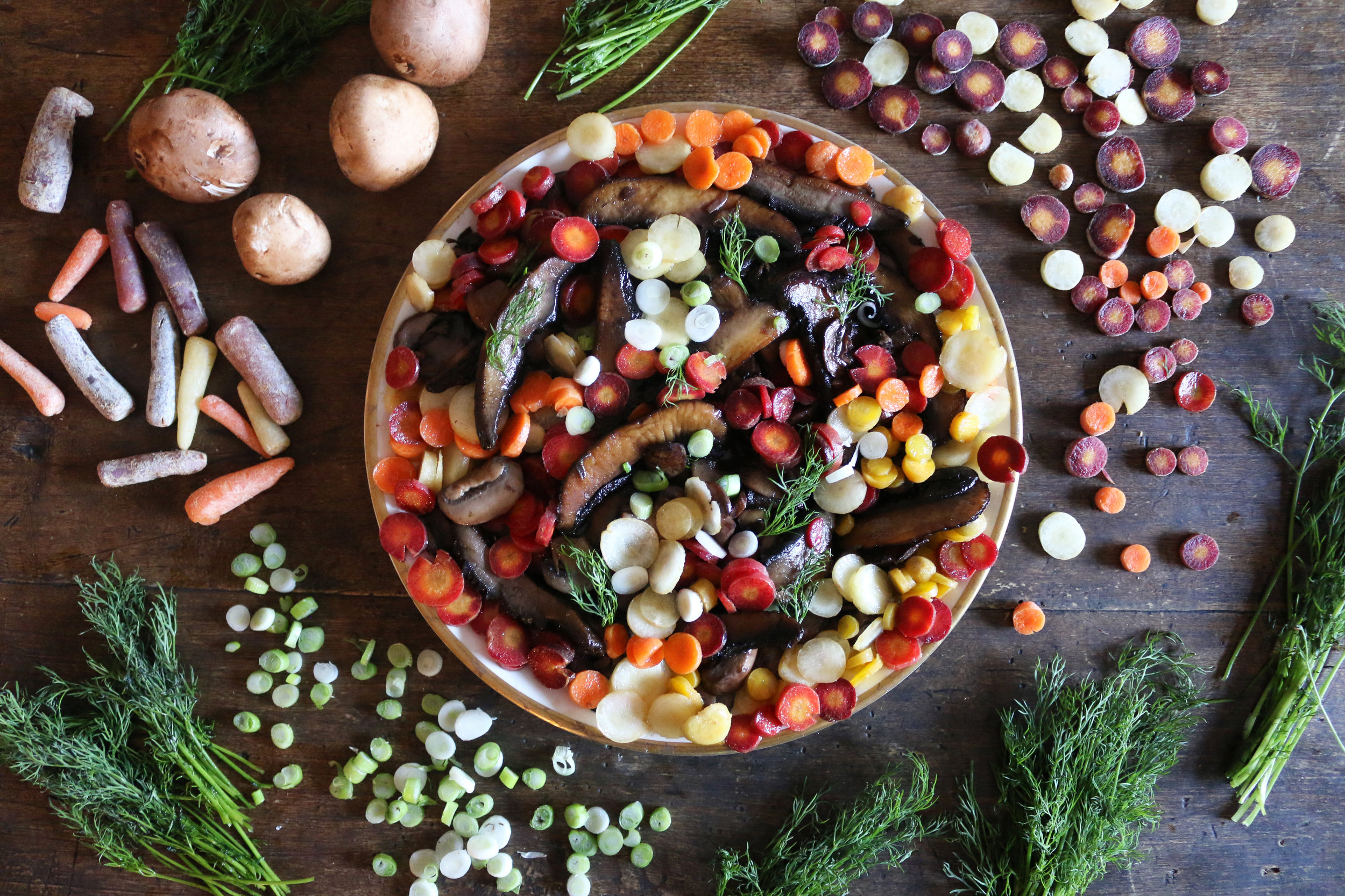 Colorful Carrot and mushroom salad-culinarywitch.jpg