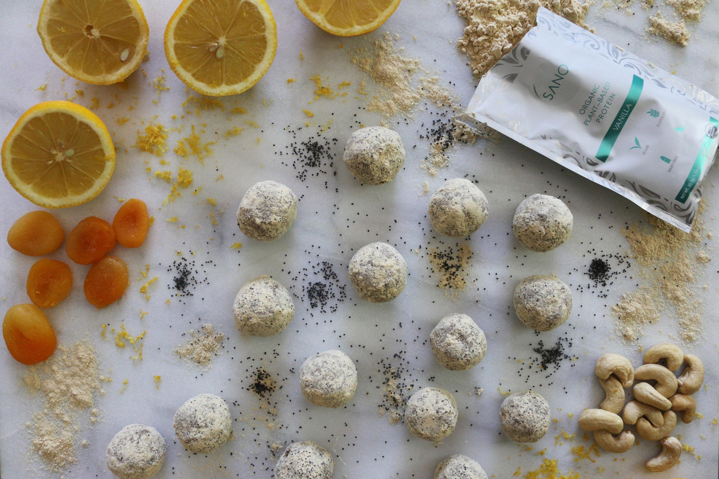Lemon poppy seed energy balls-culinarywitch