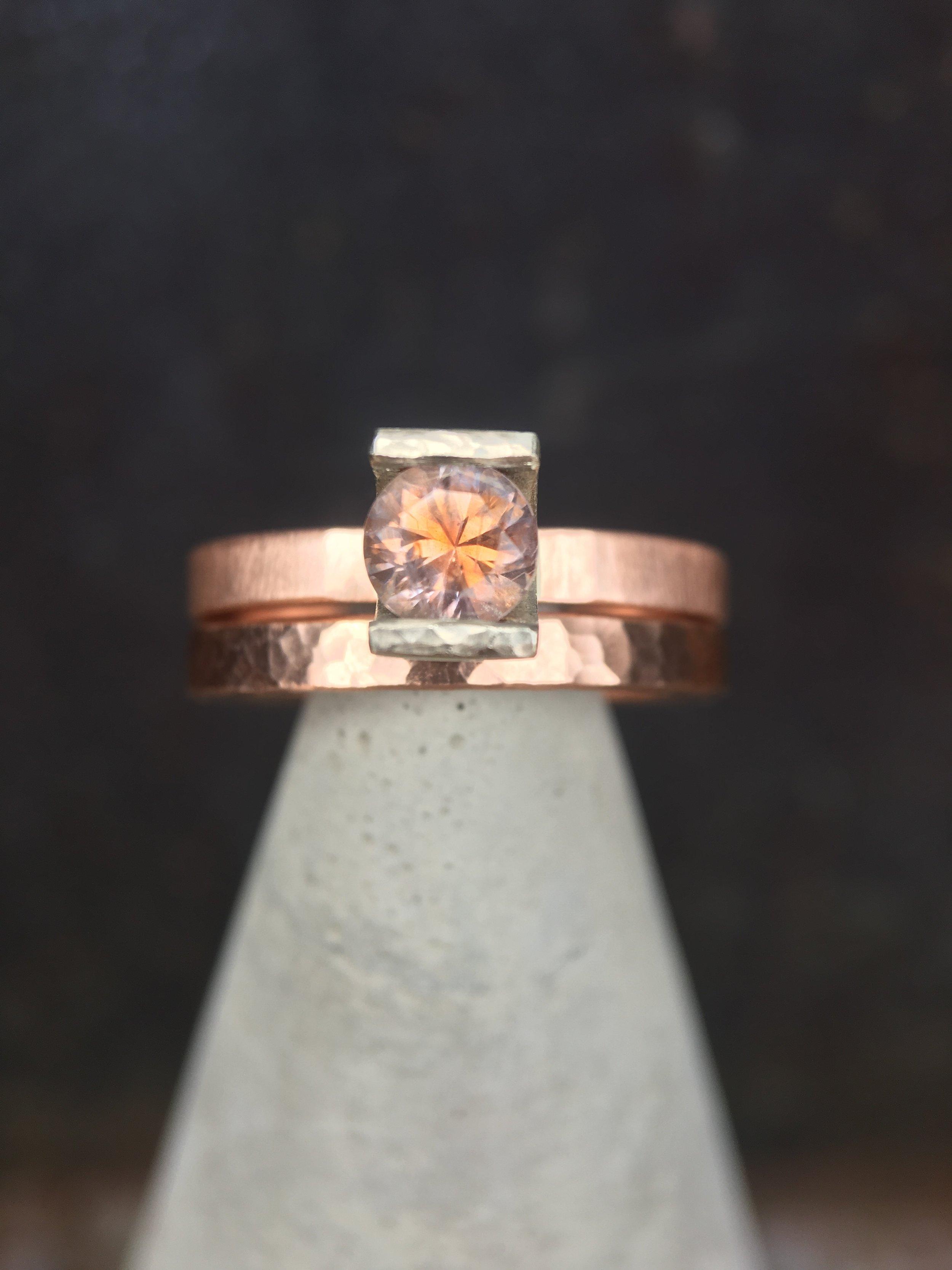 Kaleidoscope Montana Sapphire 14KT Rose Gold Rings