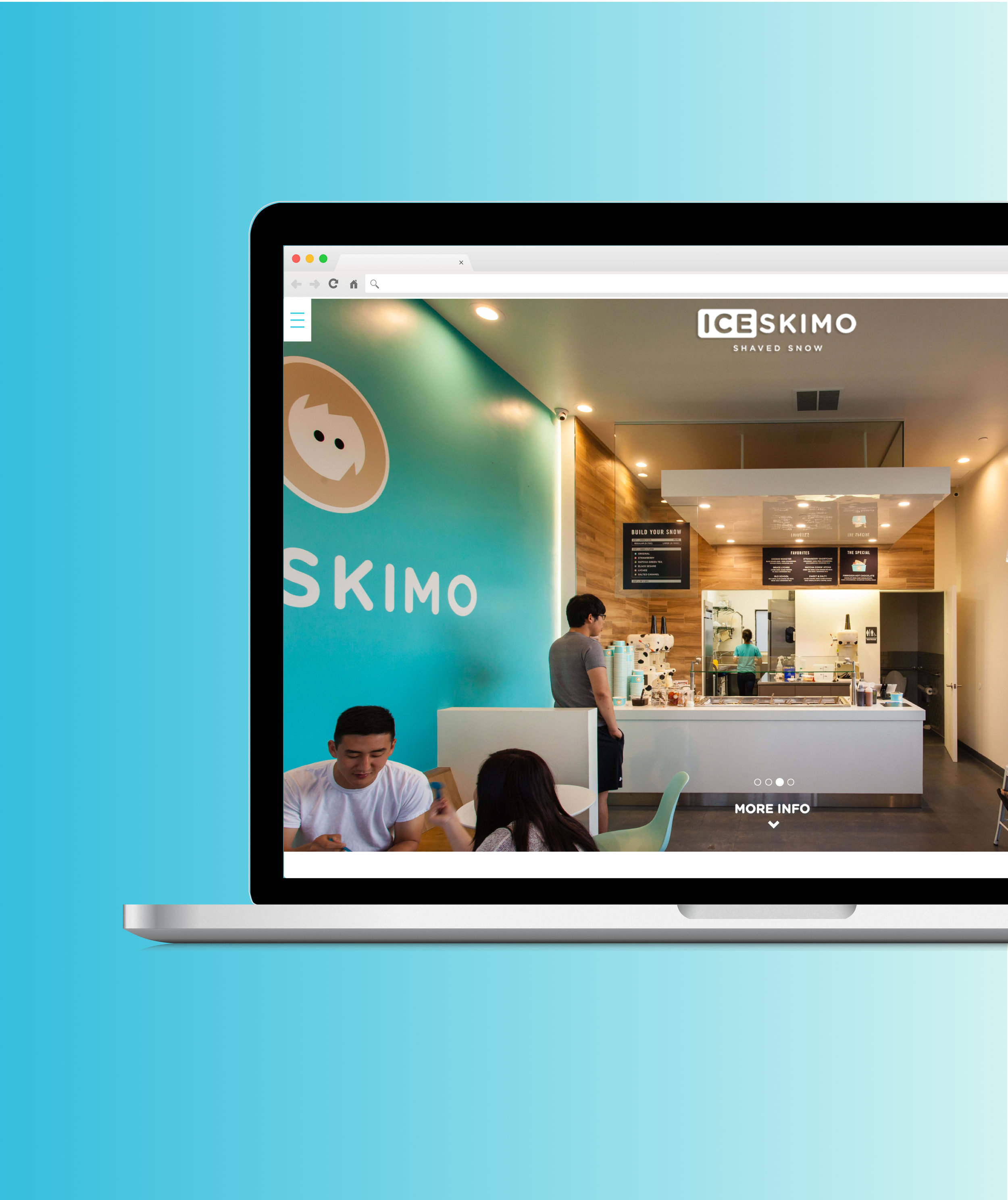 CLIENT - DESIGN & DEVELOPMENTICESKIMO WEBSITE - Two designers and I worked with Iceskimo to convey their brand digitally through a responsive website. We handled user research, competitive analysis, and the design and development of their website.VIEW CASE STUDY —>