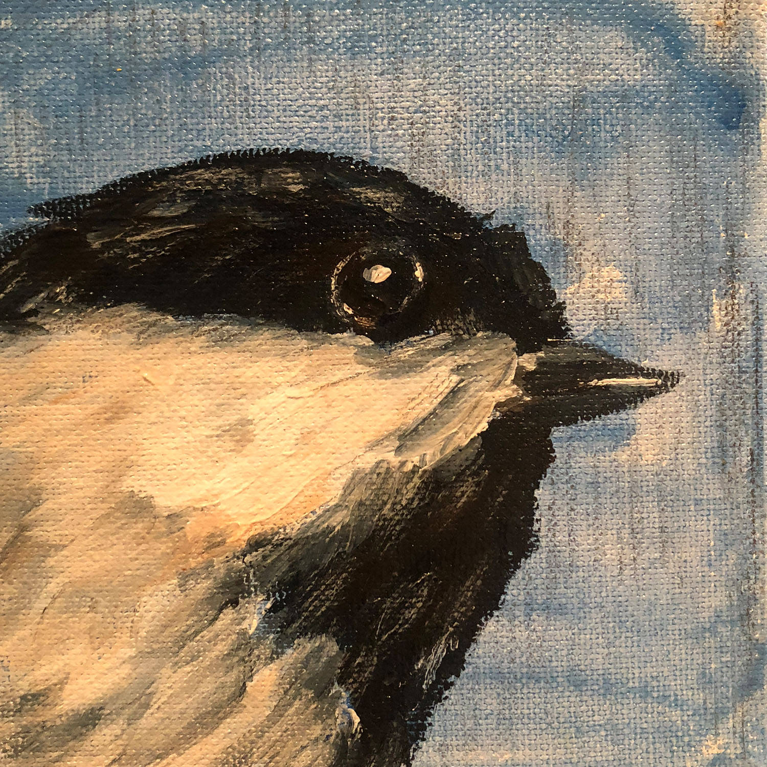 "TINY Art Show 2018 - ""Chickadee, Facing East"" by Laura Mitchell"