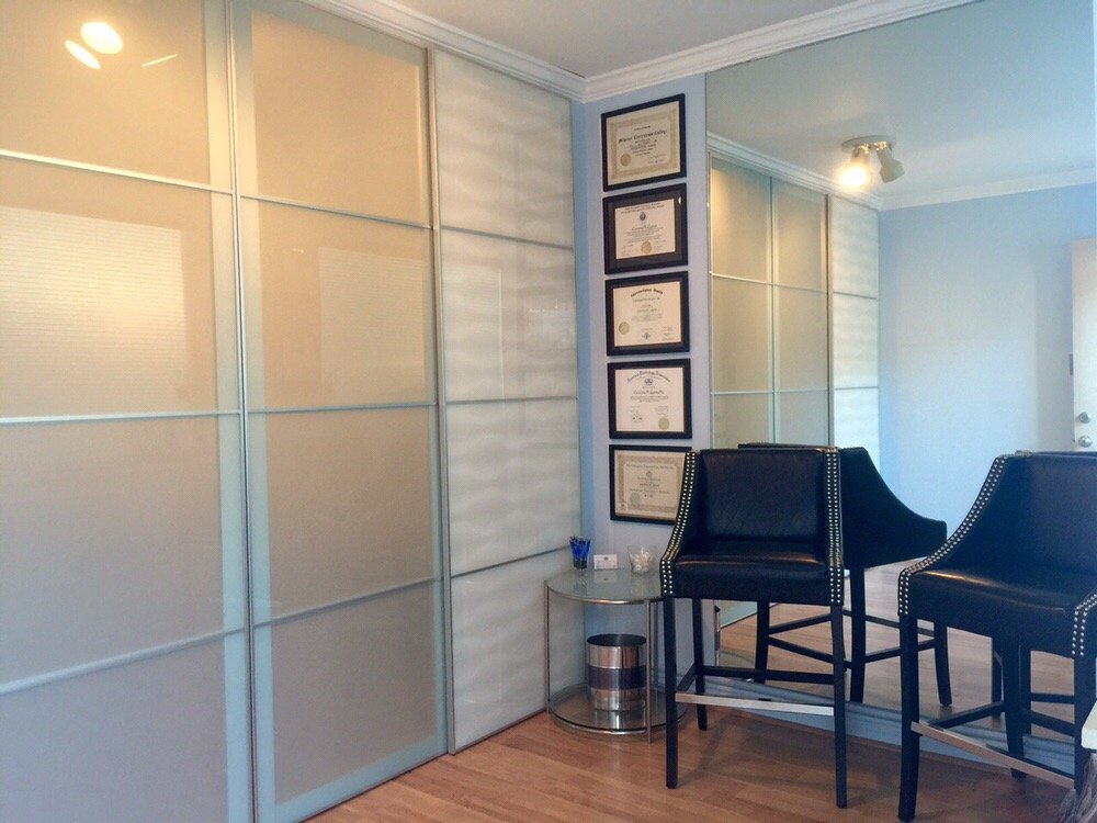the office entry area