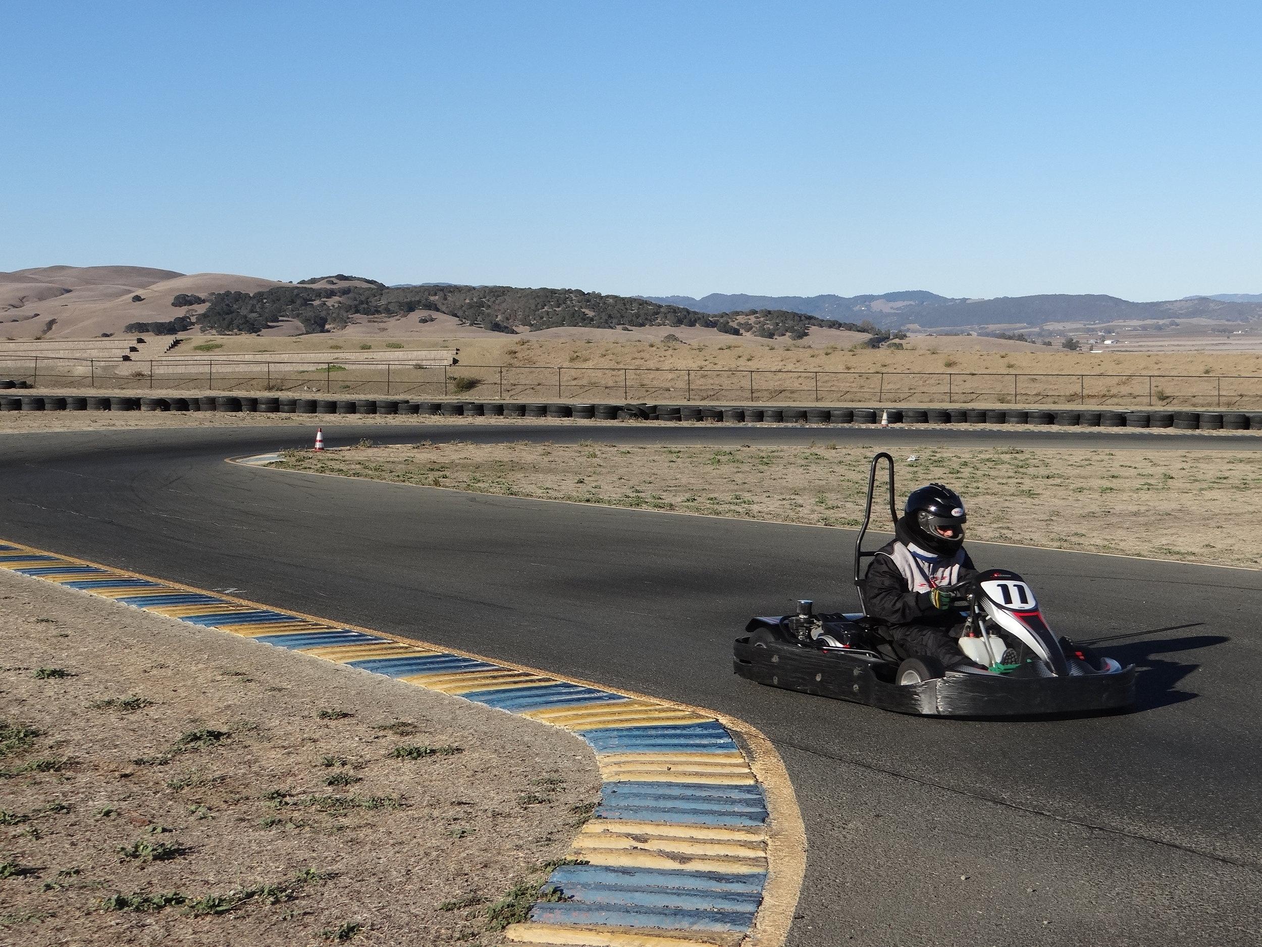 driving-around-go-karting-track-half-day-class
