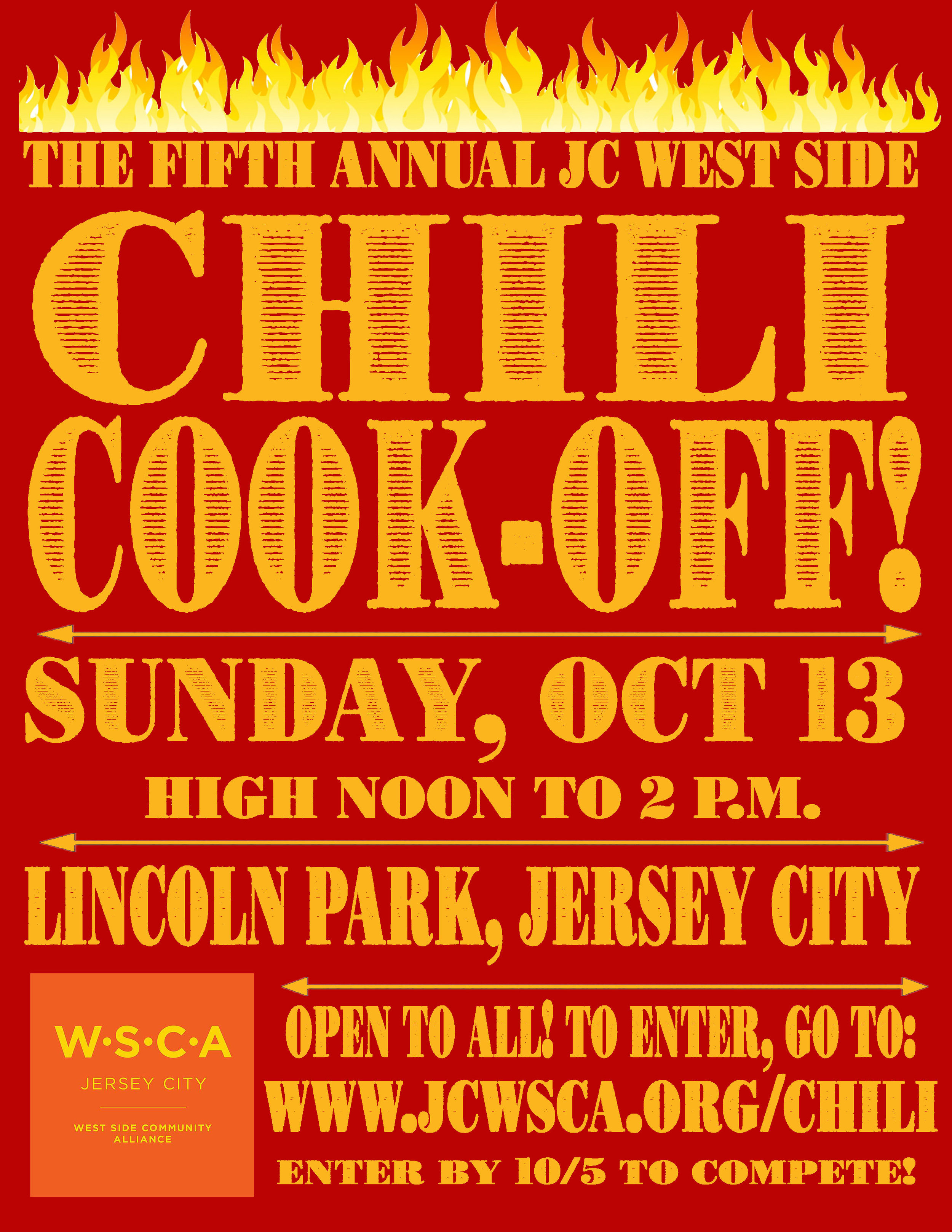Get ready! Sign up to compete by October 5th, 2019 - We can't wait to try your chili!