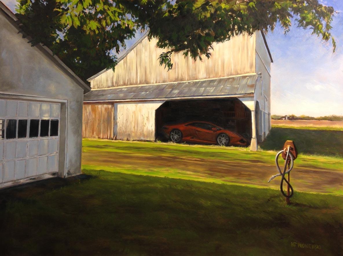 """Georgic - Patterson Farm"" 18 X 24"" oil on gessobord."