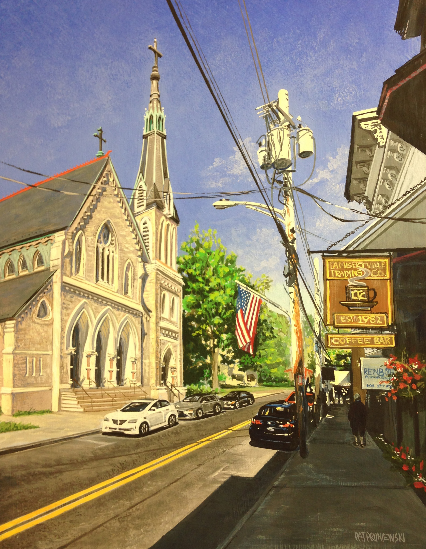 """Bridge Street Stroll""  Lambertville, NJ"