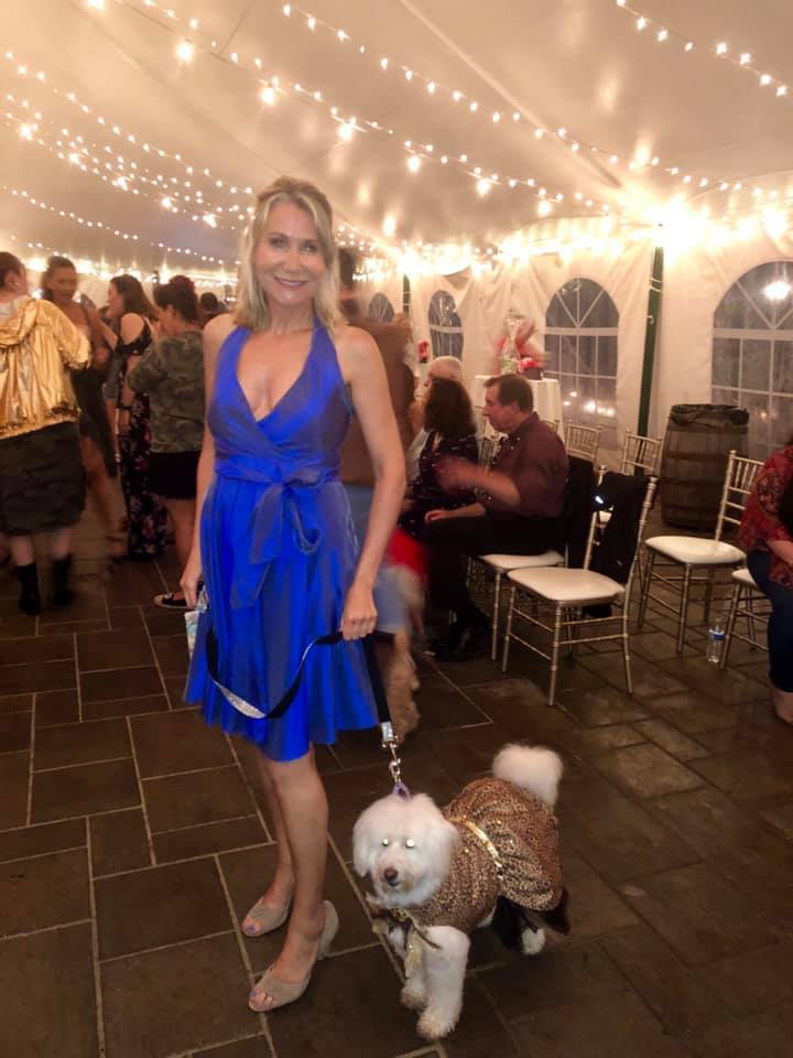 June 20, 2019: Heaps of Hope fashion show - Mary was thrilled to return to Smolack Farms in North Andover, Massachusetts where she hosted a fundraiser for Heaps of Hope, a nonprofit organization that helps women with cancer. The highlight of the night was participating in a fashion show walking a rescued dog, saved from the South Korean meat trade, down the runway.