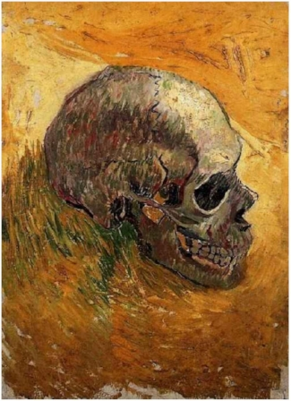 Skull by Vincent Van Gogh (1887-88)