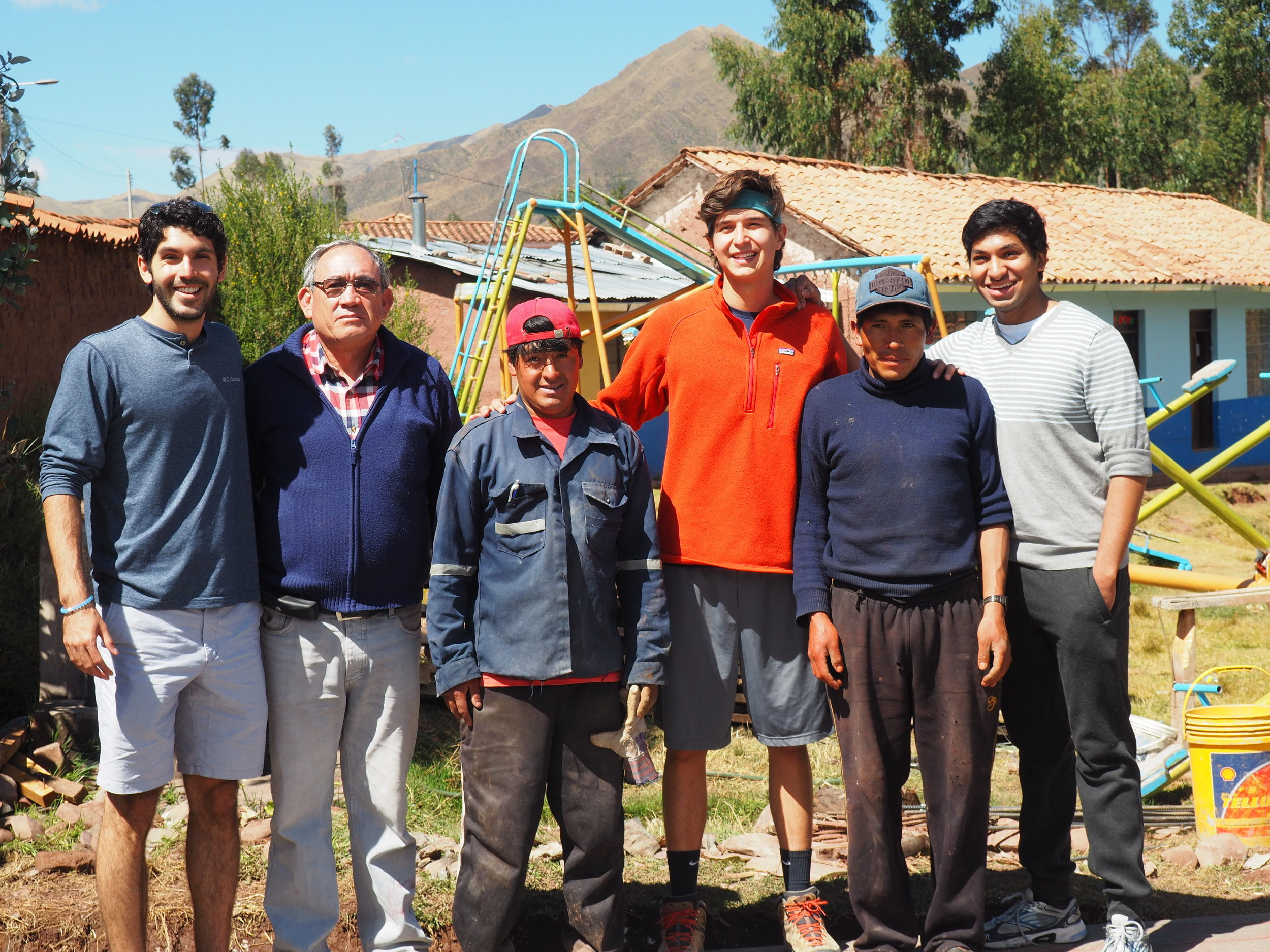 Working with fathers in the community to build the water housing