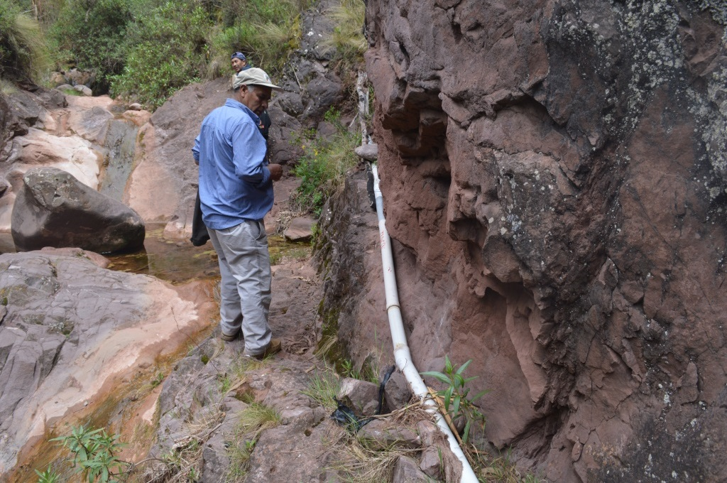 Engineer Abel, who works with a local municipality, assessed the condition of water pipes for a community called Tincoc, just below Santa Rosa de Jaquira.