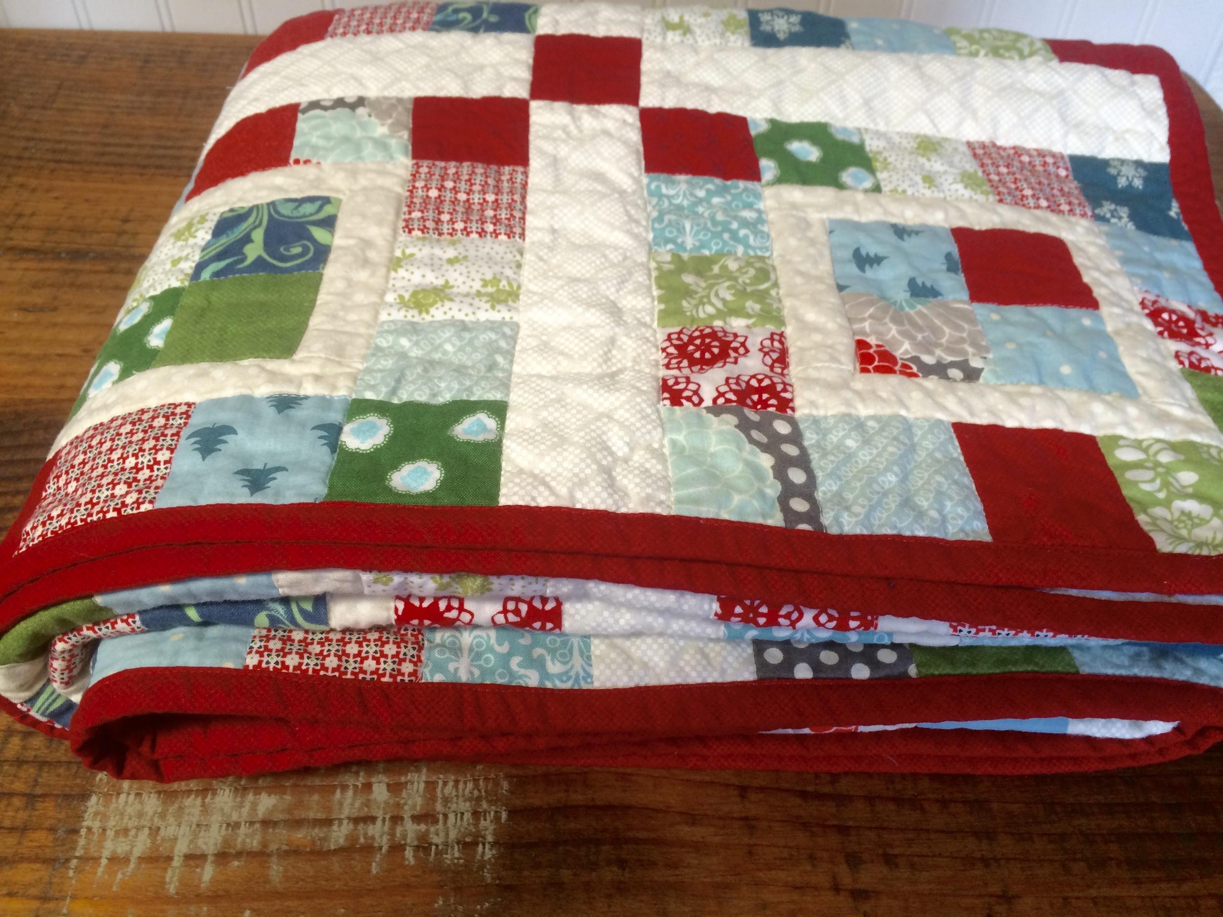 winter scrap quilt