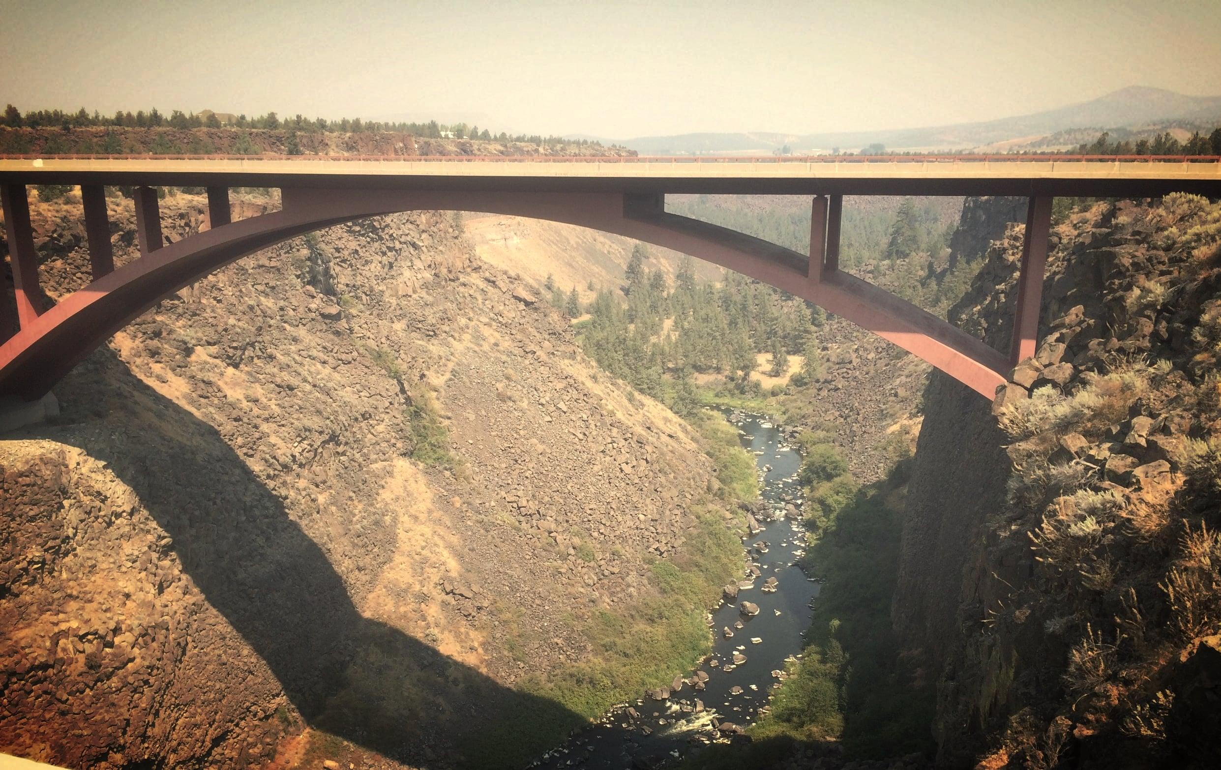 bridge across deep canyon
