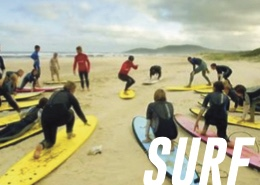 """Surfset Long Island combines rotational core training with isometric movements to build a long lean torso,and elevates the heart rate to torch fat with fun moves such as Wave Runners, Shark Kicks, and Pop ups! All the moves are """"surf inspired"""" and work the whole body. Don't let the names fool you, this is one challenging workout!"""