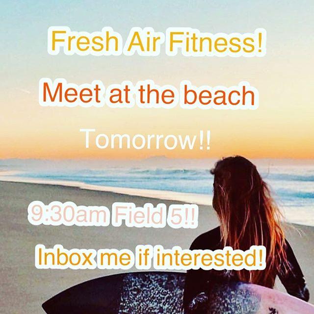 Let's get together tomorrow for a fun, beach workout!!! #saltsandsweat #outdoors #outdoorfitness #beachworkout #freshair #getsalty