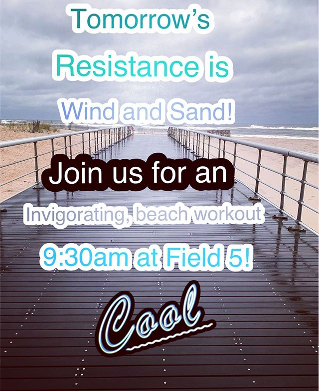 Fresh salty air, crashing waves, heart pounding, lungs burning!! Join us us for a great HIIT beach workout tomorrow at 9:30am. In box me if you would love to join us!!! #beachfit #freshair #windandsand #popup #cardiofit #friyay