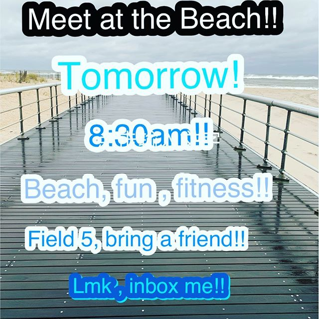 Get your day off started with an awesome outside, beachy workout!! Run, walk, squat, lunge you're way down the beach followed by great abs and core work on the boards walk!! Join us!!!! #outside #beachfit #getsalty #sunandsand #befitallyear