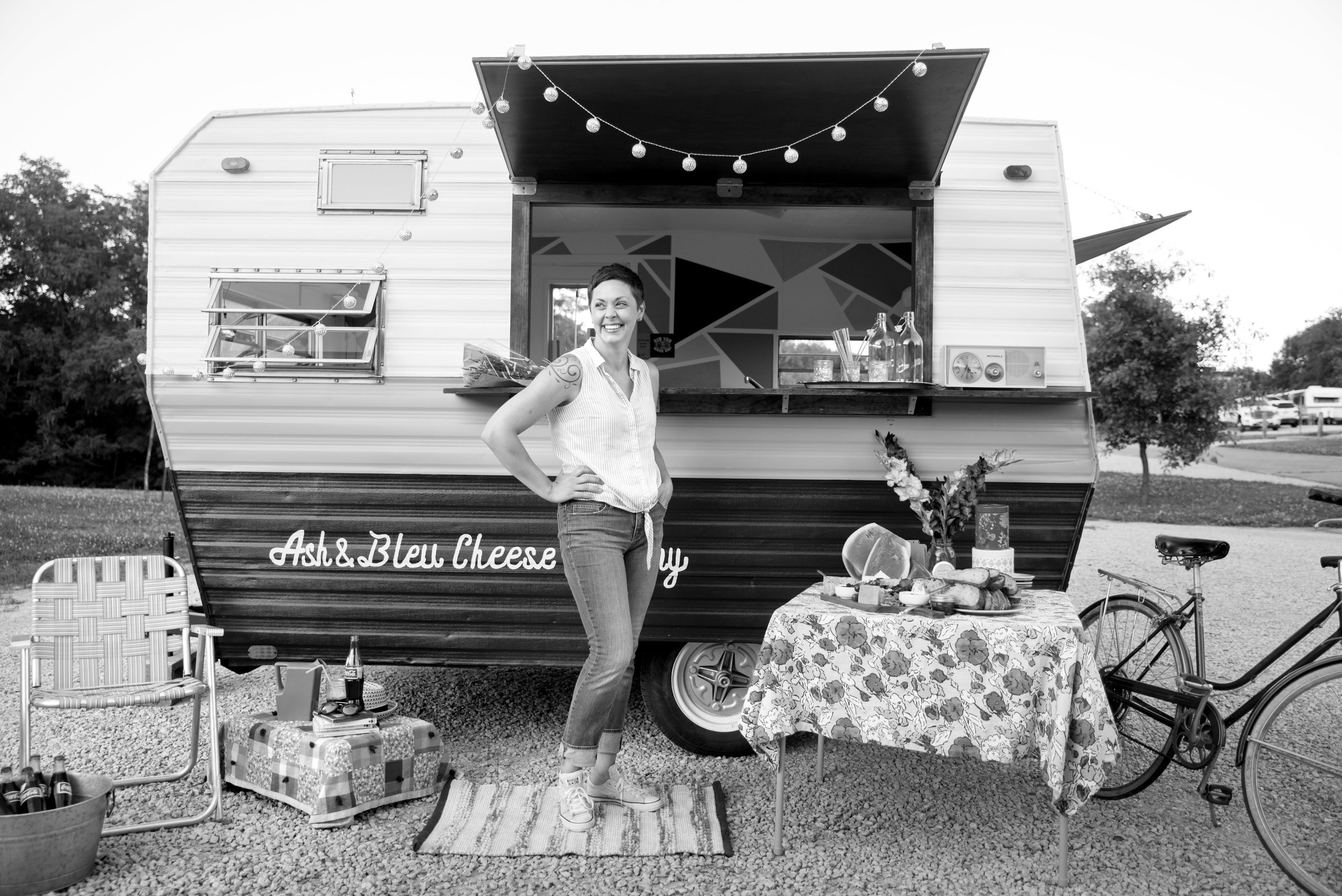 Bethany and Ash and Bleu Cheese Co. camper, June 2017.