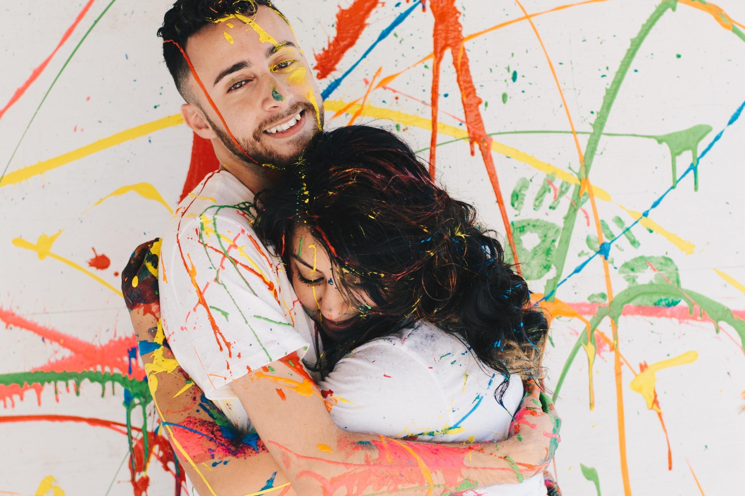 Amilcar + Stephanie | Paint Session