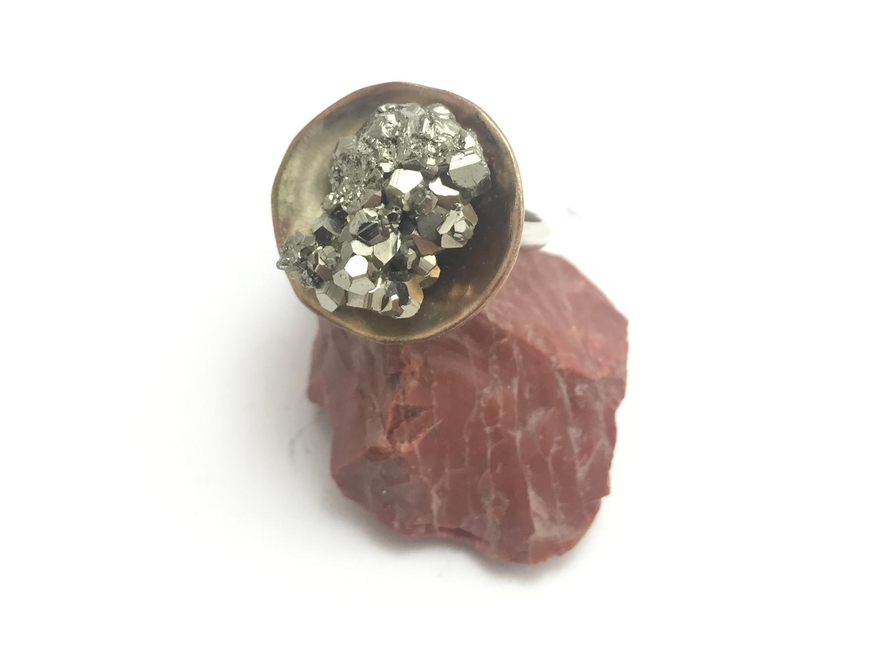 Pyrite Saucer Ring