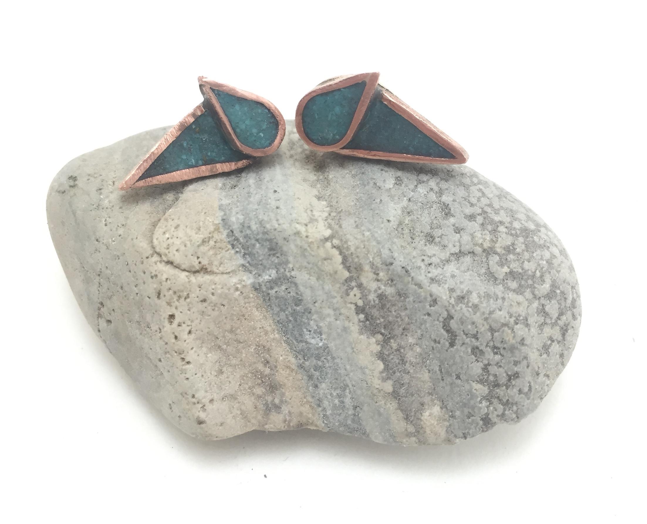 Turquoise Wild Geese Earrings