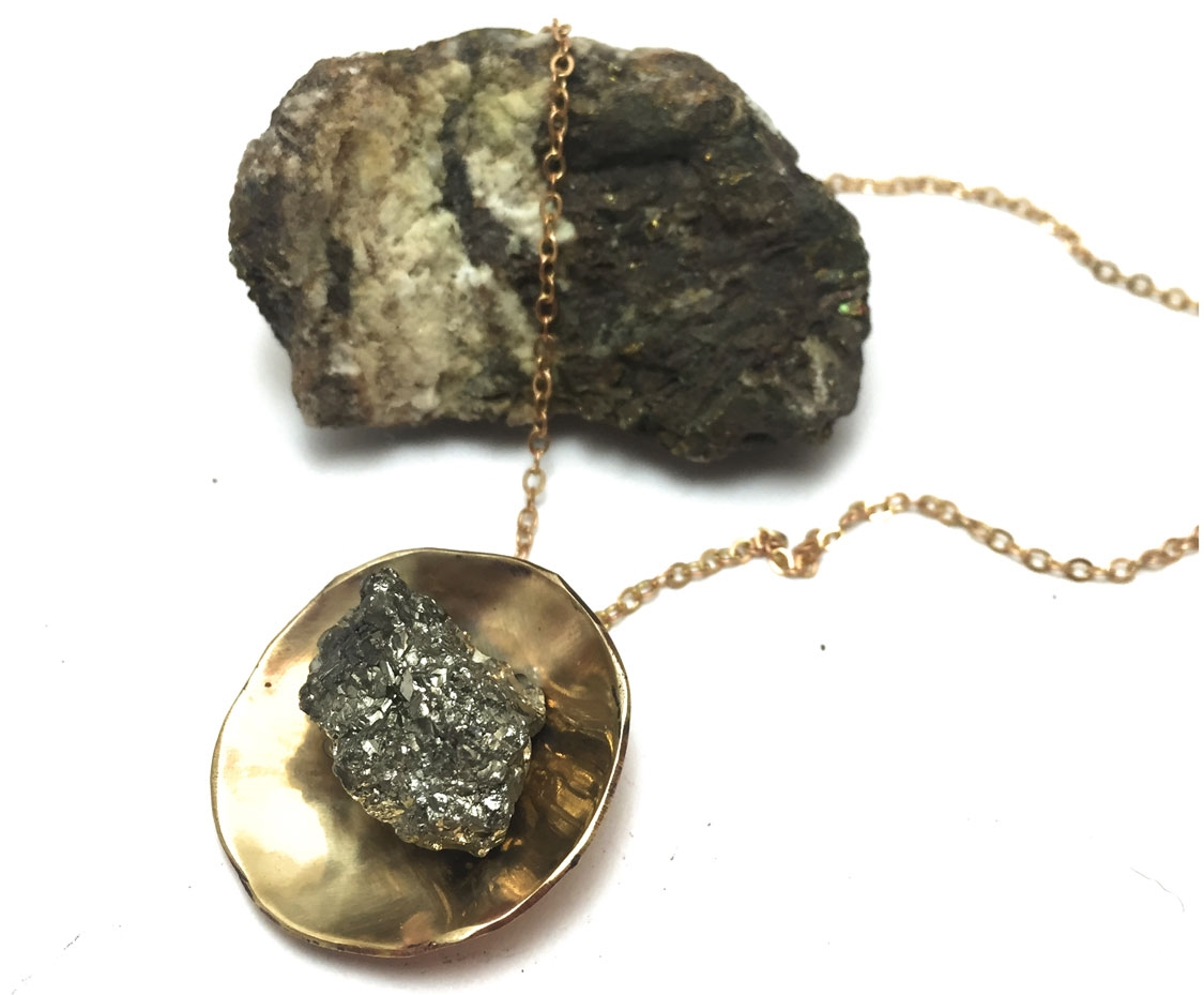 Pyrite Saucer Necklace