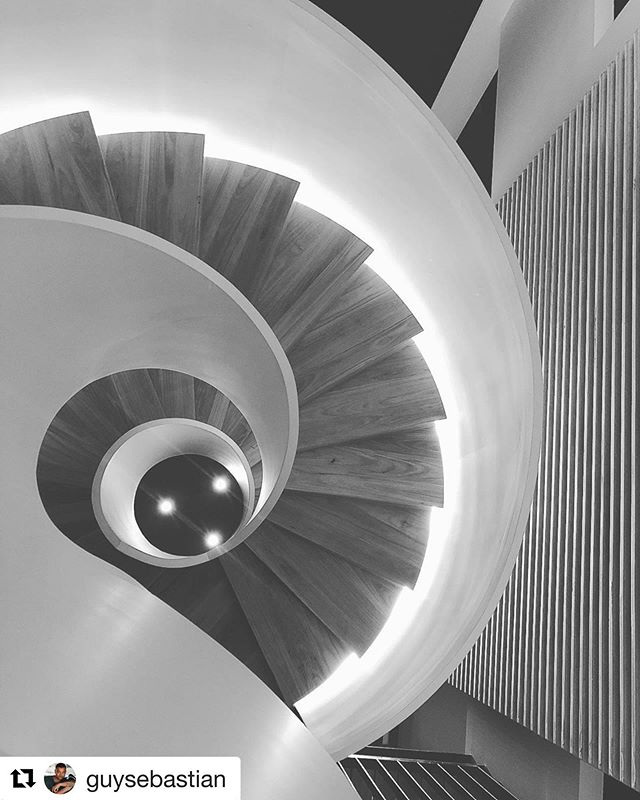 Different perspective of the helical stairs - great capture @guysebastian !! #Repost @guysebastian ・・・ Very clever @joesnelldesign @profile_property_group