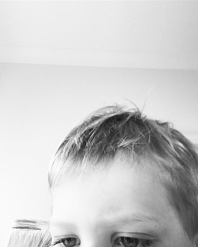 The five year old and my phone. #nicecrop