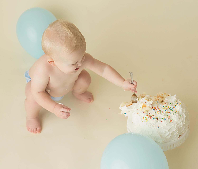 North Mississippi One Year Old Birthday Cake Smash