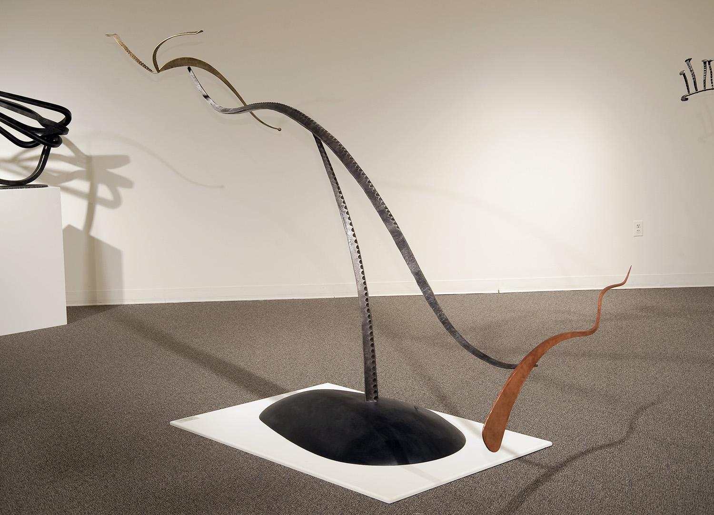 Above Today, steel, copper, poplar, 2010