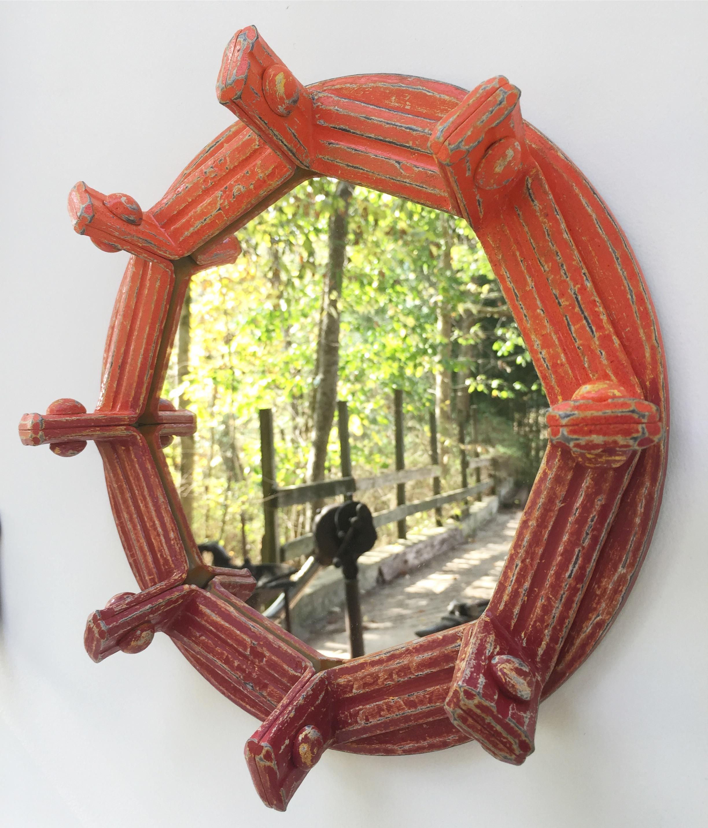 Octagonal Mirror, mild steel, paint, mirror, 2016