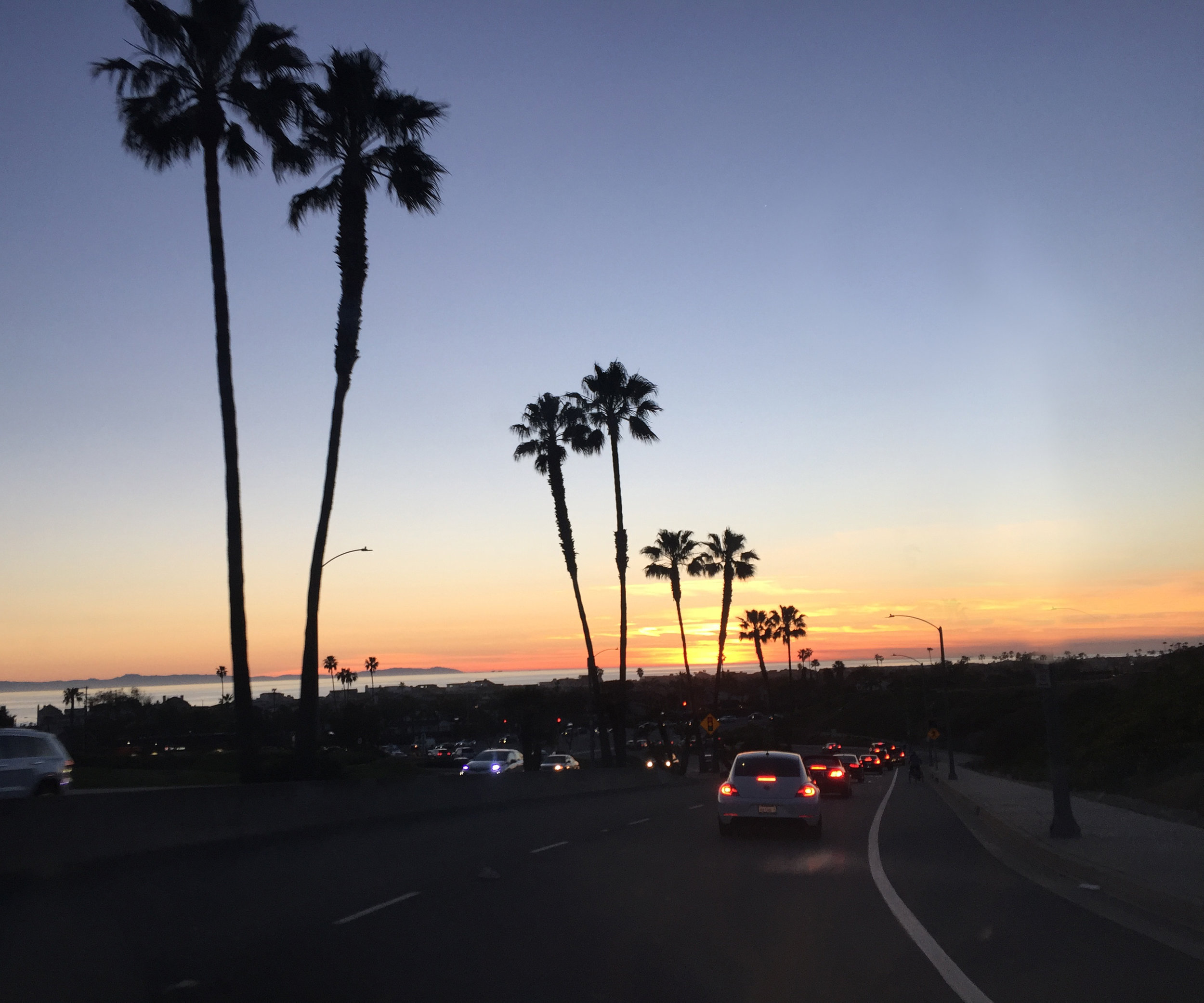 Nothing like a sunset ride home from Triumph Newport!