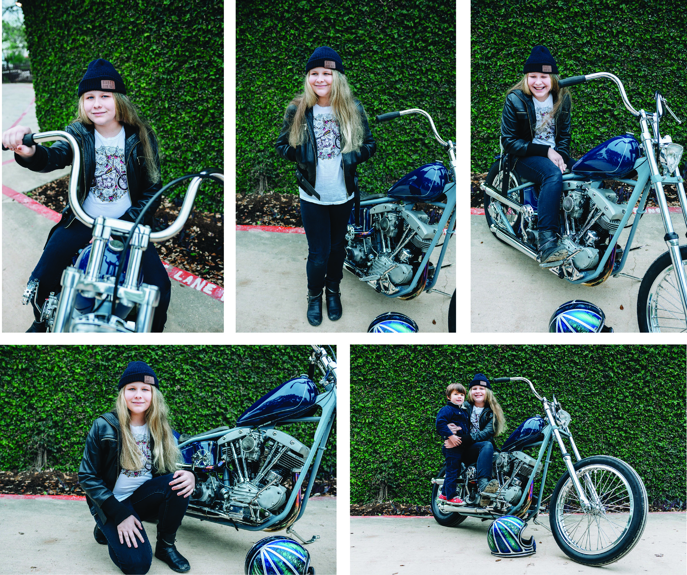 Josh's daughter rocking her Babes Ride Out gear!