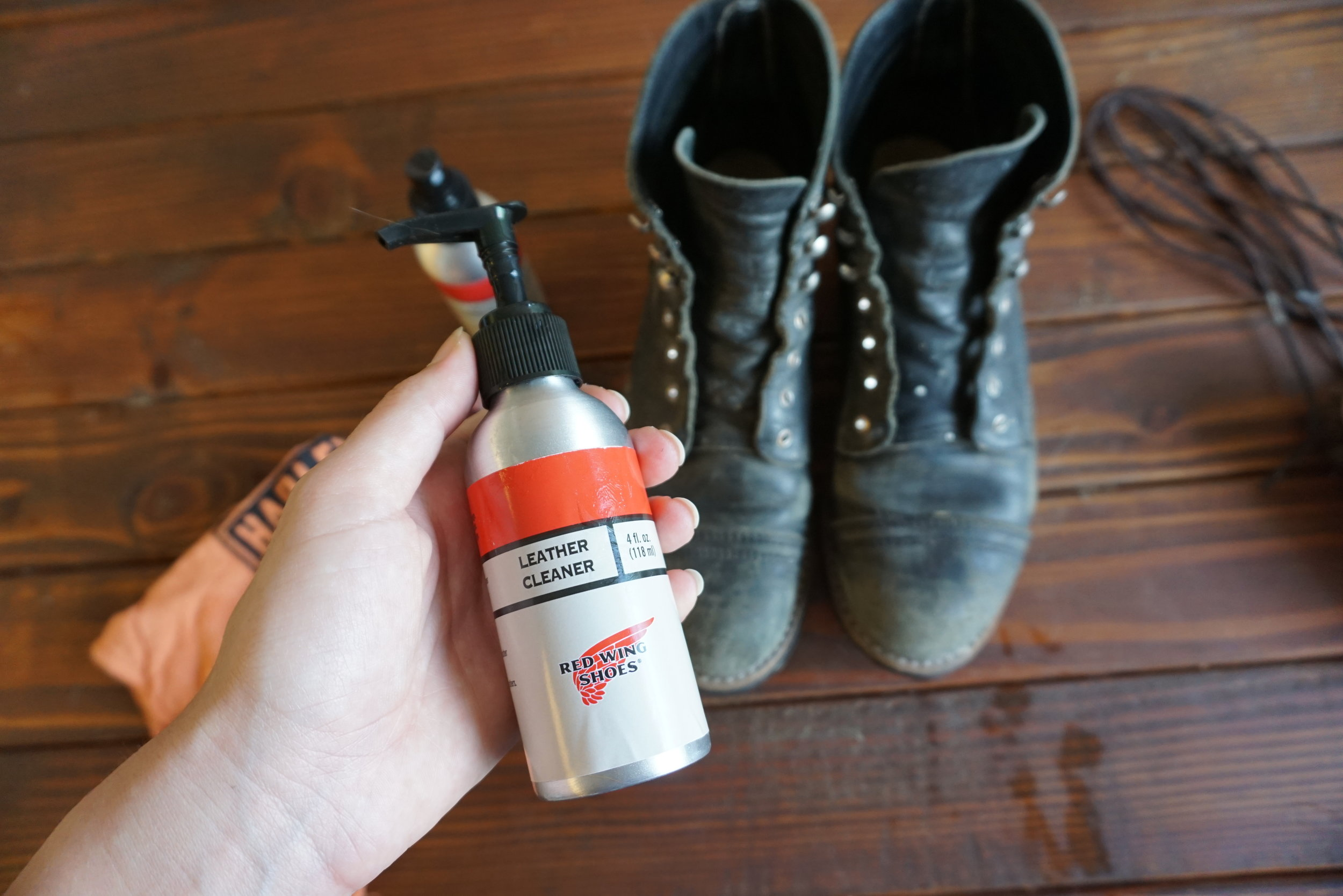 Next is the leather cleaner