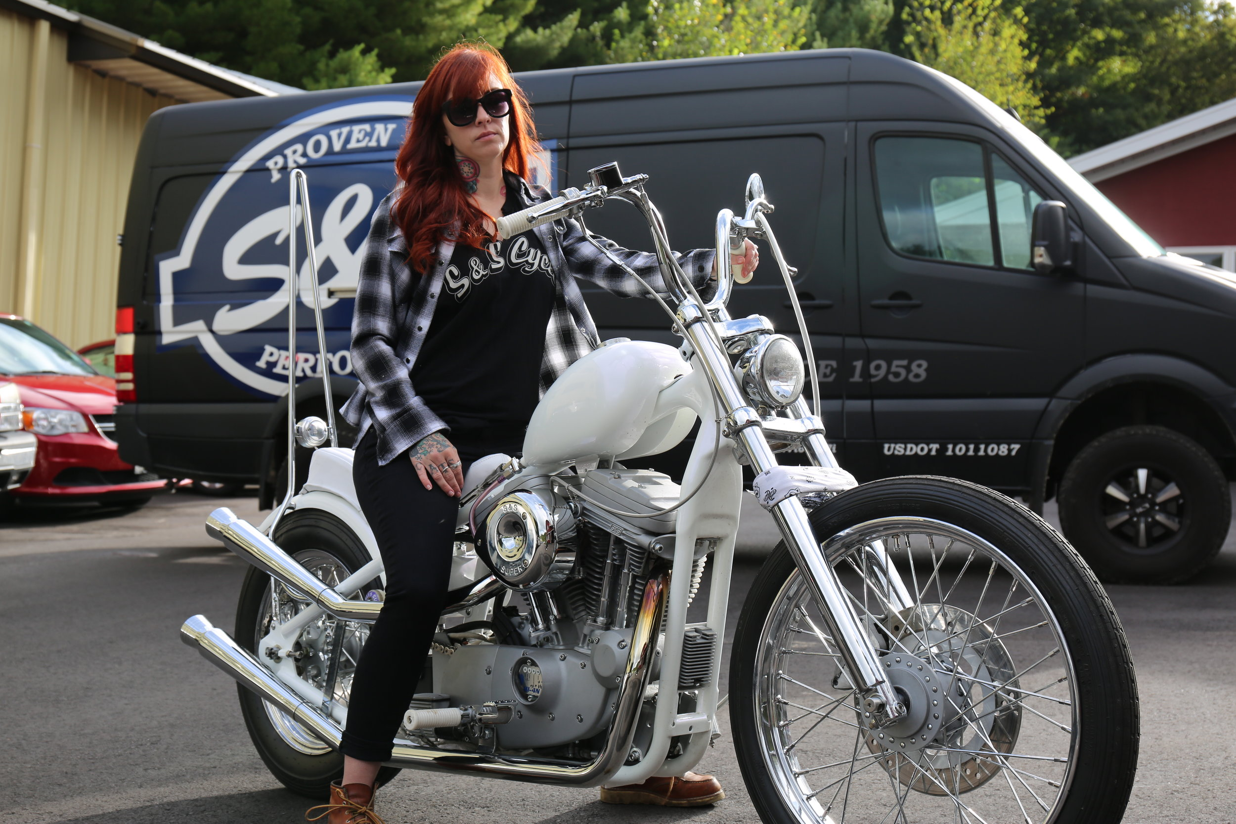 Look for Savannah on her chopper scoot. Savannah has been coming to Babes Ride Out since it's inception (2013).