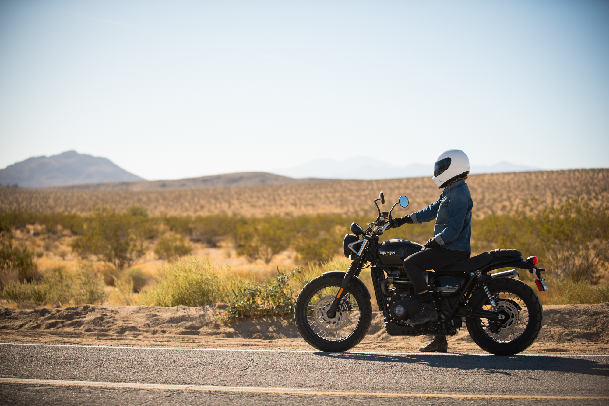 The Triumph Scrambler is truly a beautiful machine. Photo by Virginia Cagney