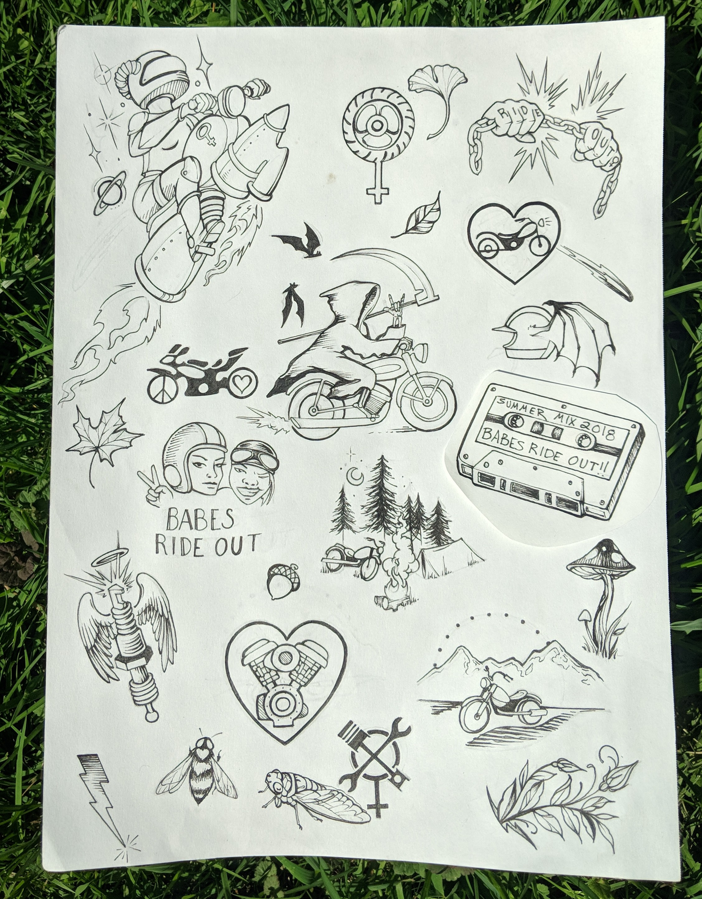 Becca Blust Babes Ride Out East Coast 3 Tattoo Flash