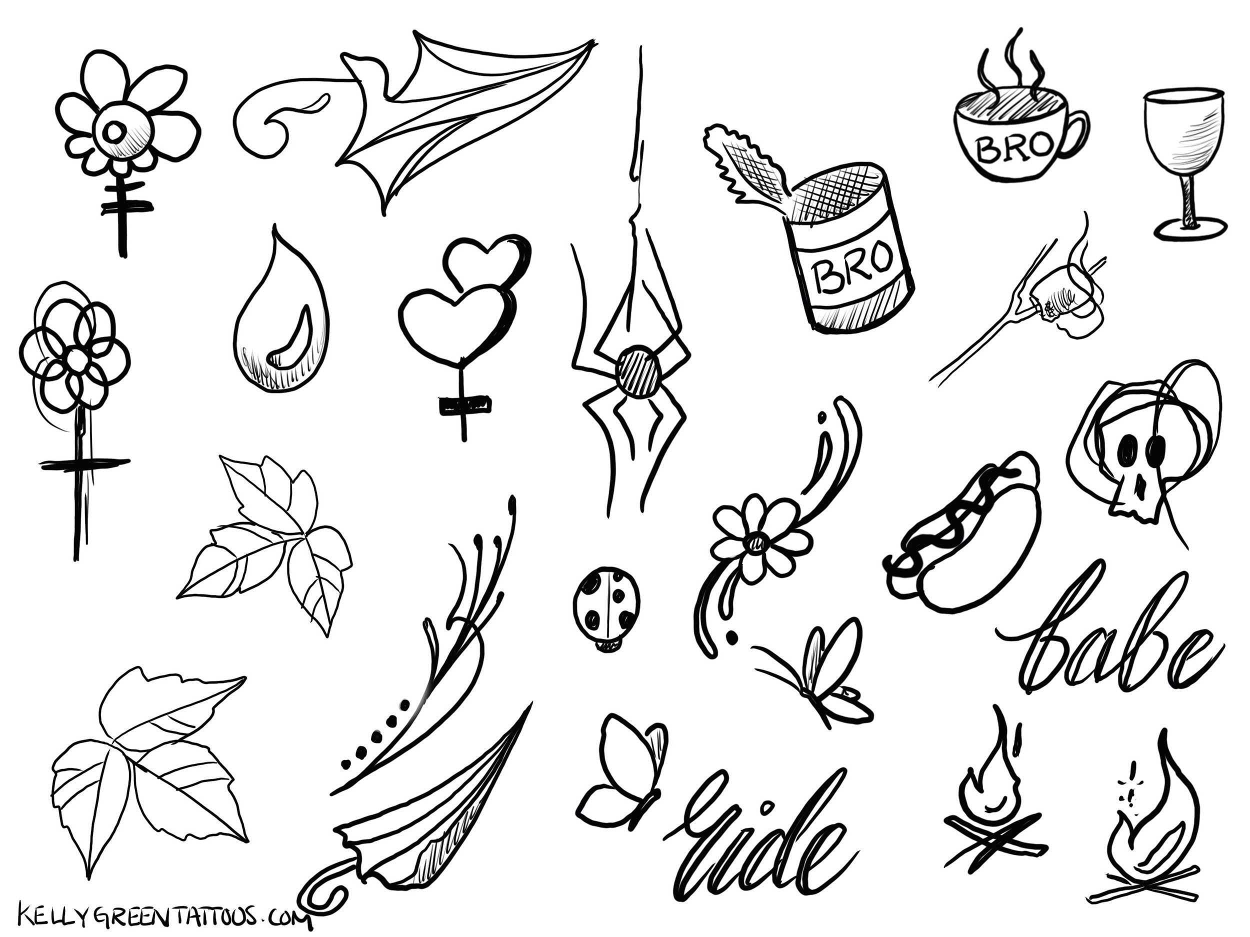 Babes Ride Out East Coast 3 Tattoo Flash