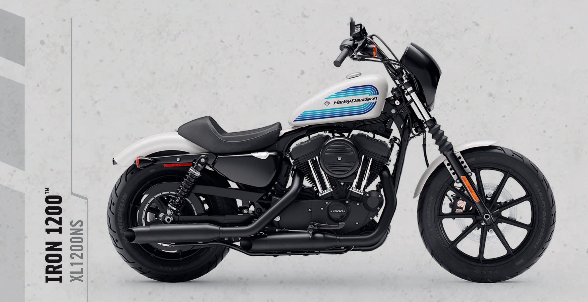 Iron 1200™   A modern take on what's been putting big grins on the faces of Sportster® motorcycle riders for decades.