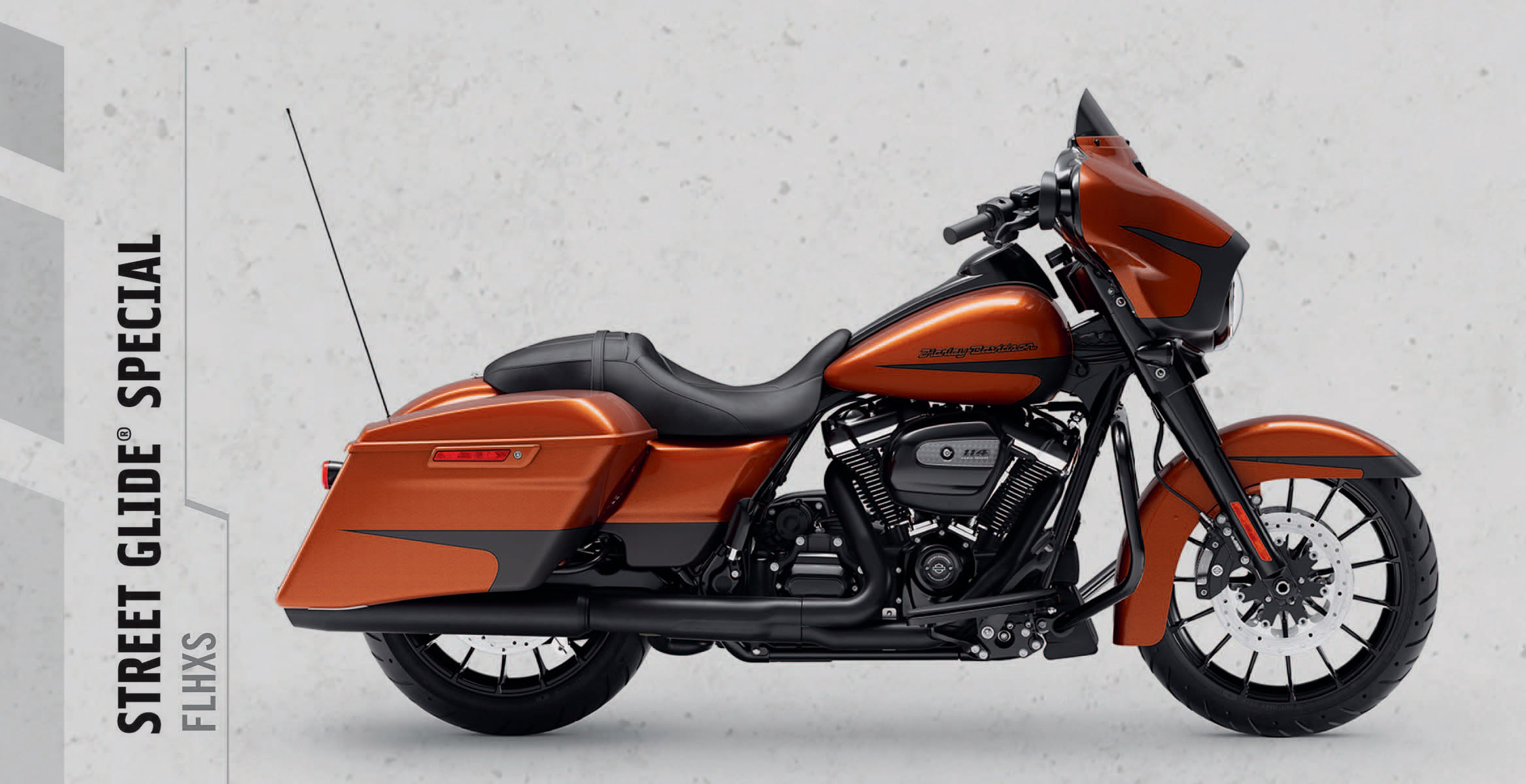 Street Glide® Special   The custom hot rod bagger look stops people in their tracks. Now powered up with the Milwaukee-Eight® 114 engine, you'll leave them in your dust.