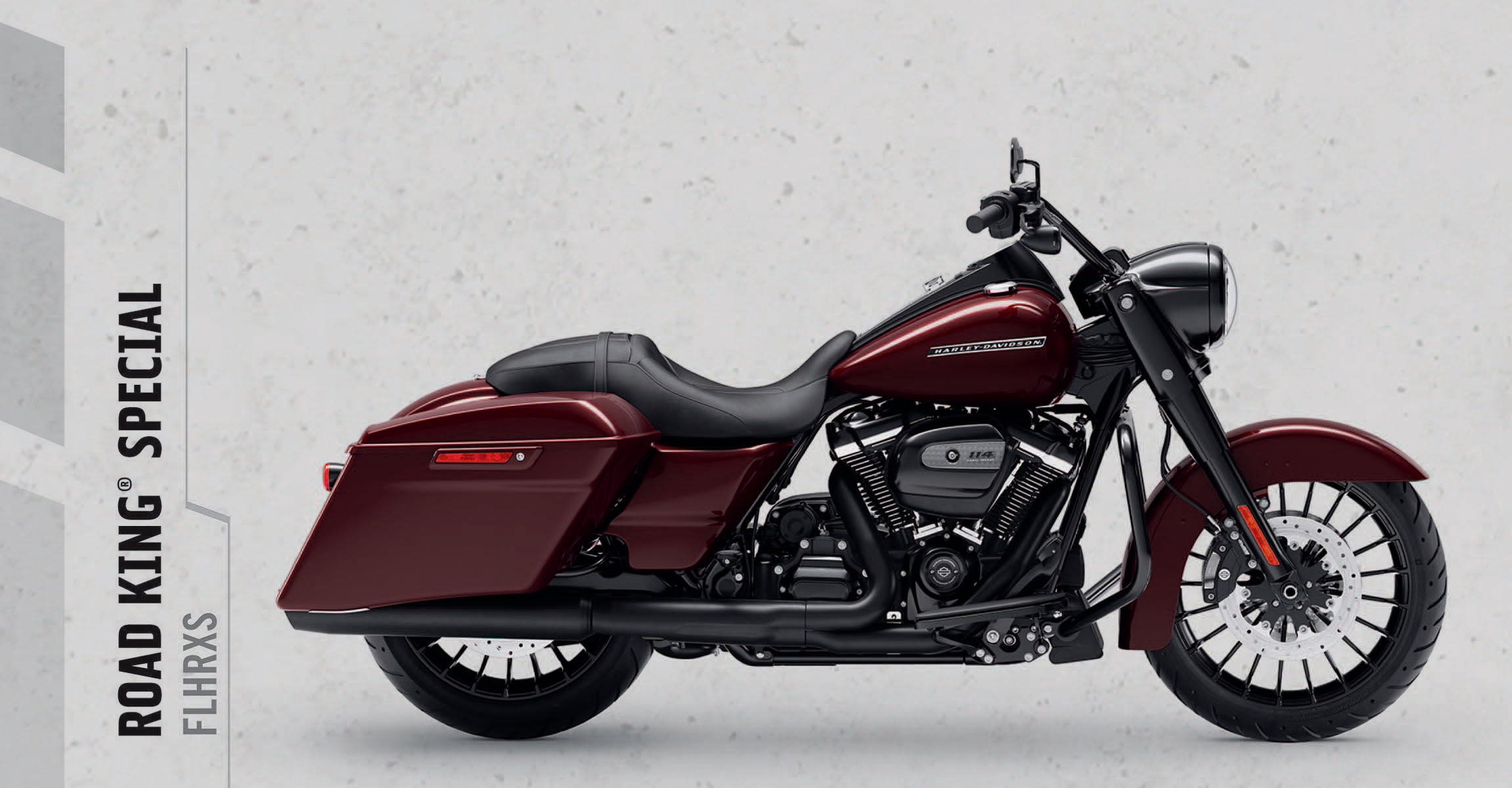 Road King® Special   There's a dark side to our heritage. You're looking at the king of it. You get top-of-the-line power and a blacked-out look that will stop traffic.